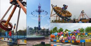Популярные аттракционы в парке в Карси